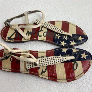 Sam Edelman American Flag Sandals Sz 7